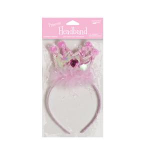 Fairytale Princess Plastic Headbands with Marabou