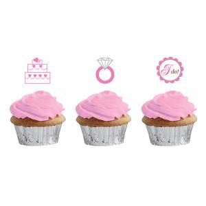Wedding Cupcake Picks