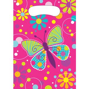 Butterflies & Flowers Cello Party Favors Bags