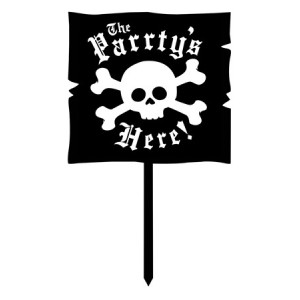 Pirate Parrty! Plastic Yard Sign