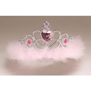 Fairytale Princess Jewel Tiaras with Marabou