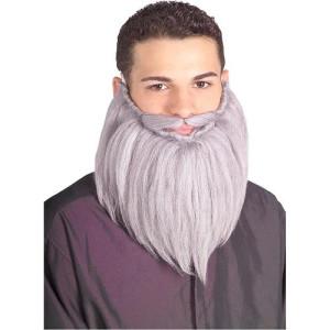 Grey Beard & Mustache Set