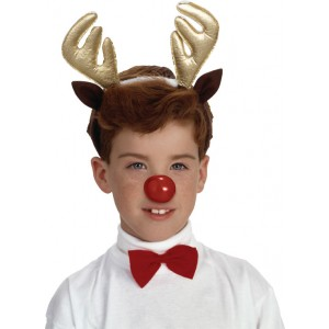 Child Reindeer Antlers and Nose