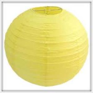 """Yellow Hanging Round Paper Lantern 12"""""""
