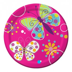 Butterfly sparkle 7'' plate