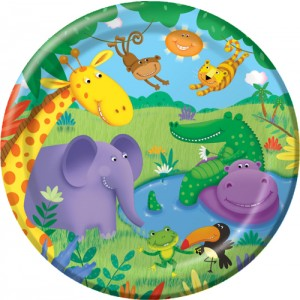 "Jungle Buddies 9"" Dinner Plates"