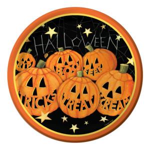 Happy Pumpkins Luncheon Plates