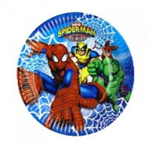 "Spiderman & Friends 9"" Dinner Plates"