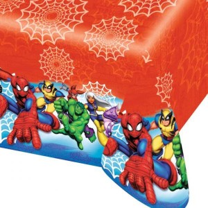 Spiderman & Friends Print Plastic Tablecover