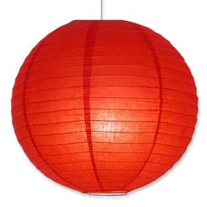 """Red Hanging Round Paper Lantern 12"""""""