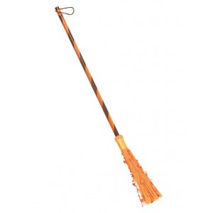 Metallic Witch Brooms-Orange