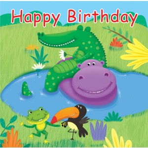 "Jungle Buddies ""Happy Birthday"" Lunch Napkins"