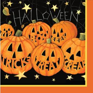 Happy Pumpkins Paper Luncheon Napkins