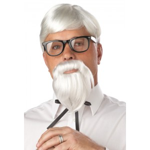 The Colonel Costume Wig and Moustache