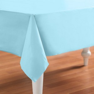 Pastel Blue (Light Blue) Plastic Tablecover