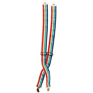 Multicolor Clown Suspenders