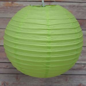 """Green Hanging Round Paper Lantern 12"""""""