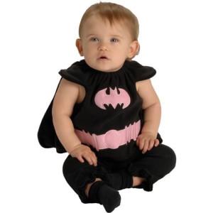 Pink Batgirl Bib