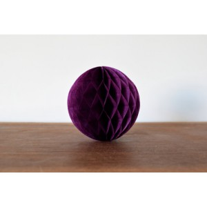 Dark Purple honeycomb pompoms