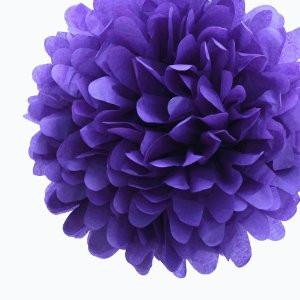 Drak Purple Tissue Paper Pompom