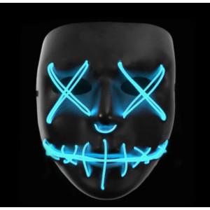 Stitched LED Lighted Mask - Blue