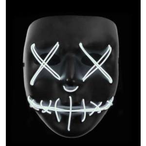 Stitched LED Lighted Mask - White
