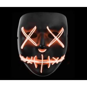 Stitched LED Lighted Mask - Orange