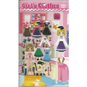Girl's Clother Sticker