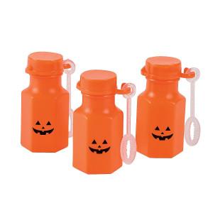 Mini Jack-O'-Lantern Bubble Bottles