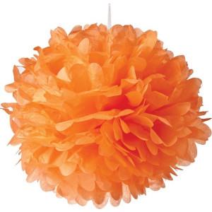 Orange Tissue Paper Pompom