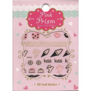 Pink Prism - sweet nail sticker