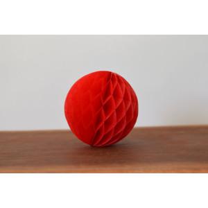 Red honeycomb pompoms