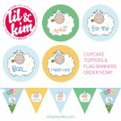 Eid CupCake Toppers & Flag Banners