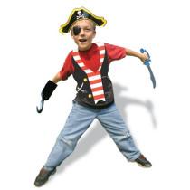 Buried Treasure Plastic Pirate Vests