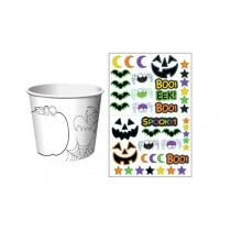 Halloween Paper Treat Cups with Sticker Sheets