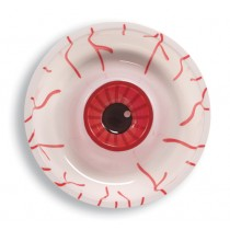 Eyeball plastic chip dip tray