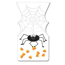 Halloween Zipper Sealed Goody Bags - Spider
