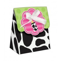 Cow Print Baby Shower Mini Favor Bags