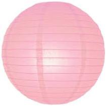 """Pink Hanging Round Paper Lantern 12"""""""