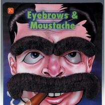Large Mustache & Eyebrows Set