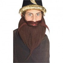 Brown Beard & Mustache Set