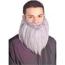 Grey Beard & Mustache Set