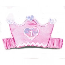 1st Birthday Elastic Tiara