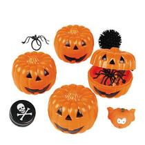 Toy-Filled Jack-O'-Lanterns