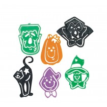 Halloween Character Stencil Bookmarks