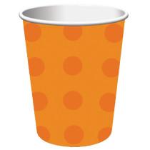 Halloween Polka Dot Paper Cups