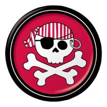 """Pirate Parrty! Boy 7"""" Foil Lunch Plates"""