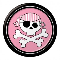 "Pirate Parrty! Girl 7"" Foil Lunch Plates"