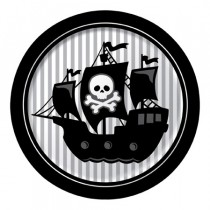 "Pirate Parrty! 9"" Foil Dinner Plates"