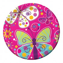 Butterfly sparkle dinner plate 9''